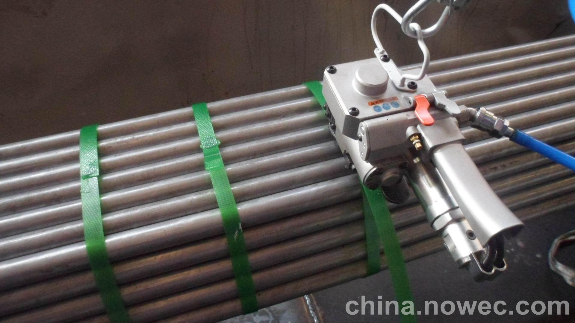 气动打包机塑钢带应用